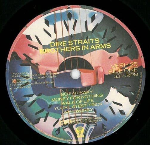 DIRE STRAITS Brothers In Arms Vinyl Record LP Vertigo 1985